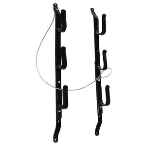 Allen Company 3 Gun Locking Gun Rack Vehicle Gun Rack with Cable Steel Adjustable Plastisol Coated Black 18520