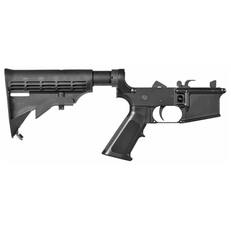 CMMG Mk9 Resolute 100 Series AR-15 Complete Lower Group 9mm Luger  Forged Lower A2 Pistol Grip M4 6 Position Collapsible Stock Matte Black