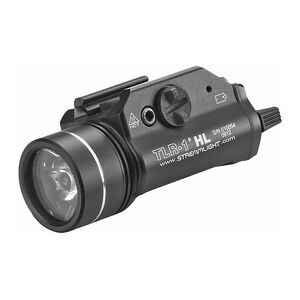 Streamlight TLR-1 HL LED Tactical Weaponlight 1000 Lumen White Light Output 2x CR123A Lithium Batteries Toggle Switch Picatinny Mount Aluminum Body Black