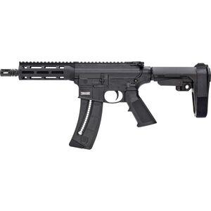 "S&W M&P15-22 AR Pistol .22 LR SBA3 Stock 8"" Barrel 25 Round Magazine 13321"