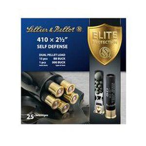 """Sellier & Bellot Self Defense .410 Gauge Ammunition 25 Rounds 2 1/2"""" BB Buck 15 Shots and 000 1 Shot SB410SDA"""