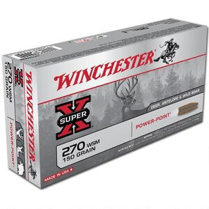 Winchester Super X .270 WSM Ammunition 20 Rounds, PP, 150 Grains