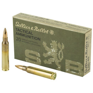 Sellier & Bellot 5.56 NATO 55 Grain M193 Full Metal Jacket 20 Rounds SB556A