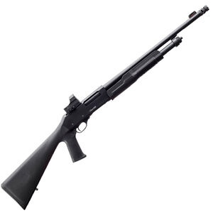 """EAA Akkar Churchill 620 Optics Tactical 20 Gauge Pump Action Shotgun 18.5"""" Barrel 3' Chamber 5 Rounds Red Dot Optic Durable Pistol Grip Polymer Synthetic Stock Matte Black"""