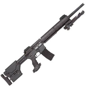 """DPMS Panther Mini SASS Semi Automatic Rifle .223 Remington/5.56x45mm NATO 18"""" Stainless Steel Fluted Heavy Barrel 30 Rounds Black Magpul PRS Buttstock Black Finish"""