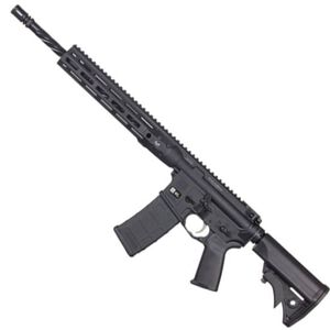 "LWRC DI M-LOK AR-15 Semi Auto Rifle 5.56 NATO 16.1"" Spiral Fluted Barrel 30 Rounds Modular One Piece M-LOK Free Float Rail System Collapsible Stock Matte Black"