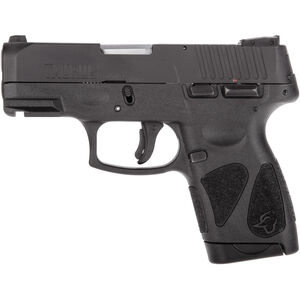 "Taurus G2S Slim 9mm Luger Semi Auto Pistol 3.2"" Barrel 7 Rounds Single Action with Restrike 3 Dot Sights Thumb Safety Polymer Frame Black Finish"
