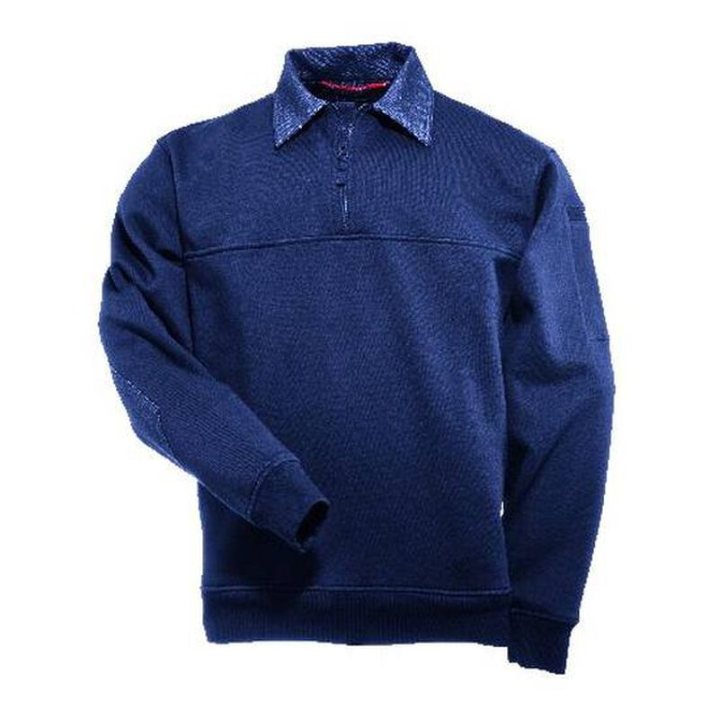 5.11 Tactical Denim Detail Job Fleece Shirt 2 Extra Large Fire Navy 72301