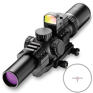 Burris MTAC 1-4x24 Riflescope Illuminated Ballistic AR Reticle 30mm Tube 1/2 MOA Adjustments Second Focal Plane Fastfire III 3 MOA Red Dot/PEPR Mount Matte Black