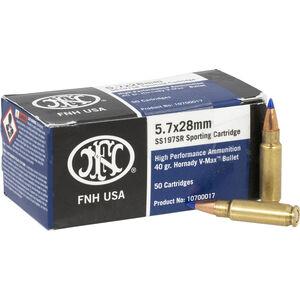 FNH 5.7x28mm Ammunition 50 Rounds, V-Max, 40 Grain