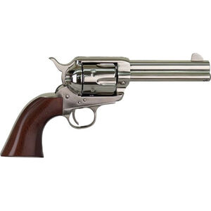 "Cimarron Pistolero .22 LR Single Action Rimfire Revolver 10 Rounds 4.75"" Barrel Pre-War Frame Walnut Grips Nickel Finish"