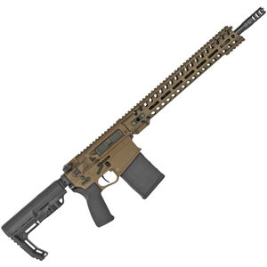 "POF USA Revolution DI .308 Winchester Semi Auto Rifle 16.5"" Barrel 20 Rounds Direct Gas Impingement System 14.5"" M-LOK Free Float Rail Burnt Bronze"