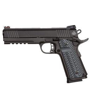 "Rock Island Armory TCM Series TCM TAC Ultra FS Combo Semi Auto Pistol .22TCM/9mm Luger 5"" Barrel 10 Rounds Fiber Front/Adjustable Rear Sights G10 Grips Parkerized Finish"