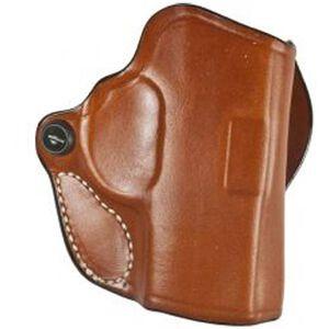 DeSantis Mini Scabbard Belt Holster S&W M&P Shield With Lasermax Right Hand Leather Tan 019TAG9Z0