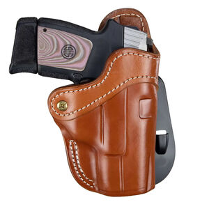 1791 Gunleather Optic Ready Open Top Multi-Fit 2.1 OWB Paddle Holster for Sub Compact/Compact/Full Size Semi Auto Models Right Hand Draw Leather Classic Brown