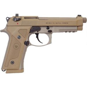 "Beretta M9A3 FS 9mm Luger SA/DA Semi Auto Pistol 5"" Threaded Barrel 10 Rounds Night Sights Safety/Decocker Polymer Grips FDE Finish"