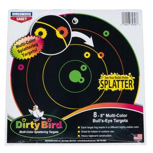 """Birchwood Casey Shoot-N-C Paper 8"""" Multi Color Bullseye Targets Black 8 Pack"""