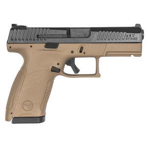 "CZ P-10 C 9mm Semi Auto Pistol 4.02"" Barrel 15 Rounds Night Sights Ambi Mag Release Flat Dark Earth Frame"