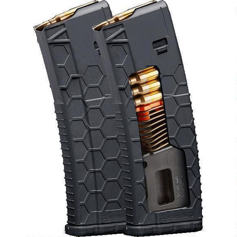 Hexmag Series 2 AR-15 10 Round Magazine/30 Round Body  223 Rem/5 56  NATO/ 300 AAC Blackout PolyHex2 Advanced Composite Polymer Flat Dark Earth