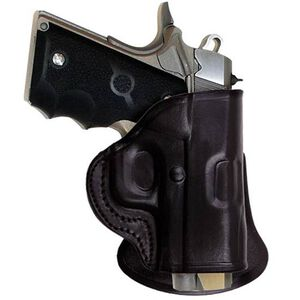 Tagua Gunleather PD2 Ruger LC9 with CT Laser Paddle Holster Right Hand Leather Black PD2-075