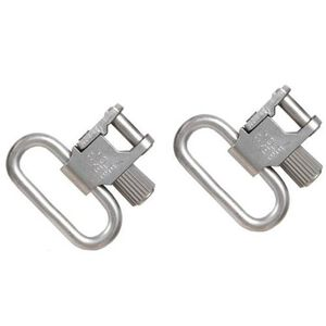 "Uncle Mike's Quick Detach 1"" Super Sling Swivel Steel Nickel Plated 1093-2"