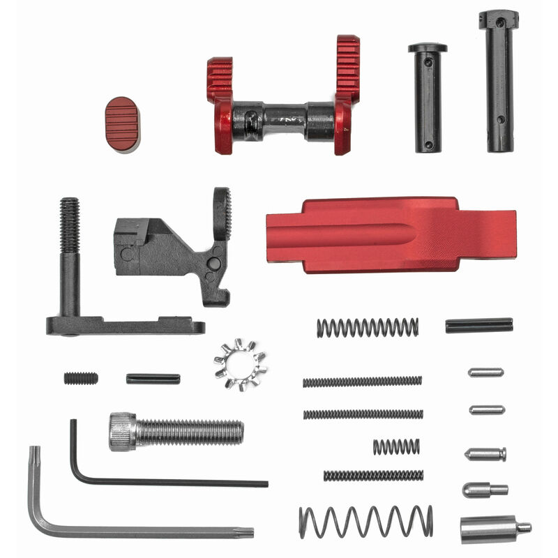 Armaspec AR-15 Lower Parts Kit without FCG and Grip Red