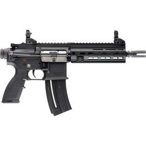 "HK USA HK416 .22 LR Semi Auto Pistol 8.5"" Barrel 10 Rounds Aluminum M-LOK Rail Polymer Flip Up Sights Matte Black Finish"