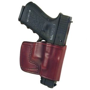 Don Hume J.I.T. S&W K Frame/ Ruger Service Six Slide Holster Right Hand Brown Leather J968550R