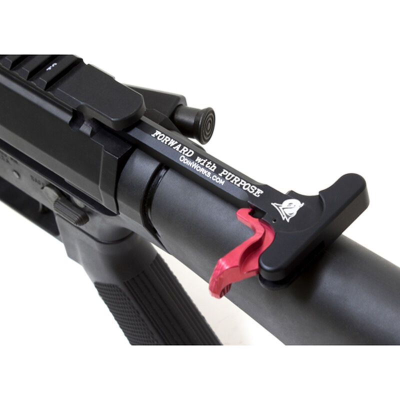 ODIN Works LR-308 Extended Charging Handle Red ACC-CH-XCH-AR10-RED