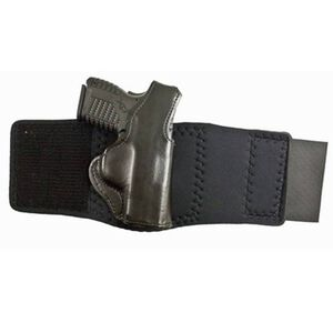 DeSantis Die Hard Ankle Holster Springfield XDS 9/45 Left Hand Leather Black 014PDY1Z0