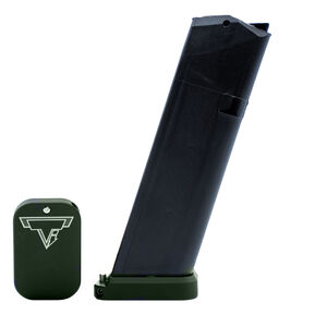 Taran Tactical Innovations Carry Base Pad Kit Fits GLOCK 9mm/.40/.357 Magazine +0 Base Pad OD Green Finish