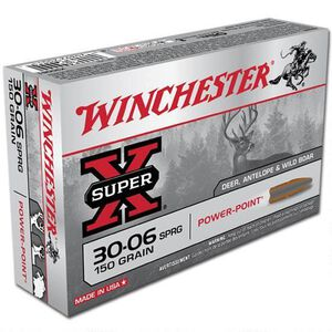Winchester Super X .30-06 Springfield Ammunition 20 Rounds JSP 150 Grains X30061