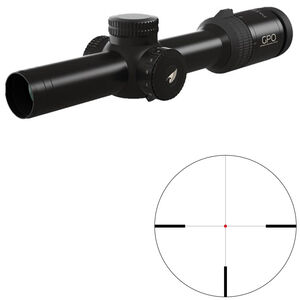 GPO Passion 8x 1-8x24 Riflescope German #4 Illuminated Reticle 30mm Tube .36 inch Adjustment Fixed Parallax Second Focal Plane Black
