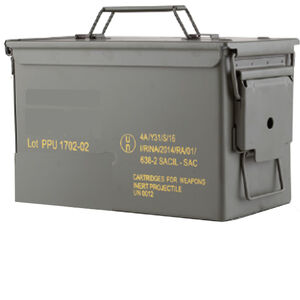 Prvi Partizan PPU Mil-Spec 9mm NATO Ammunition 1000 Rounds 115 Grain Full Metal Jacket Projectile 1263fps Metal Ammo Can