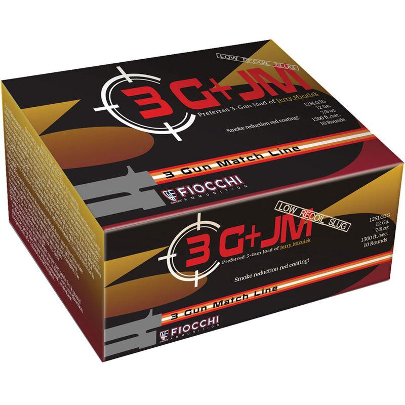 """Fiocchi 12 Gauge Ammunition 10 Rounds Low-Recoil Lead Slug 2.75"""" 0.875 oz."""