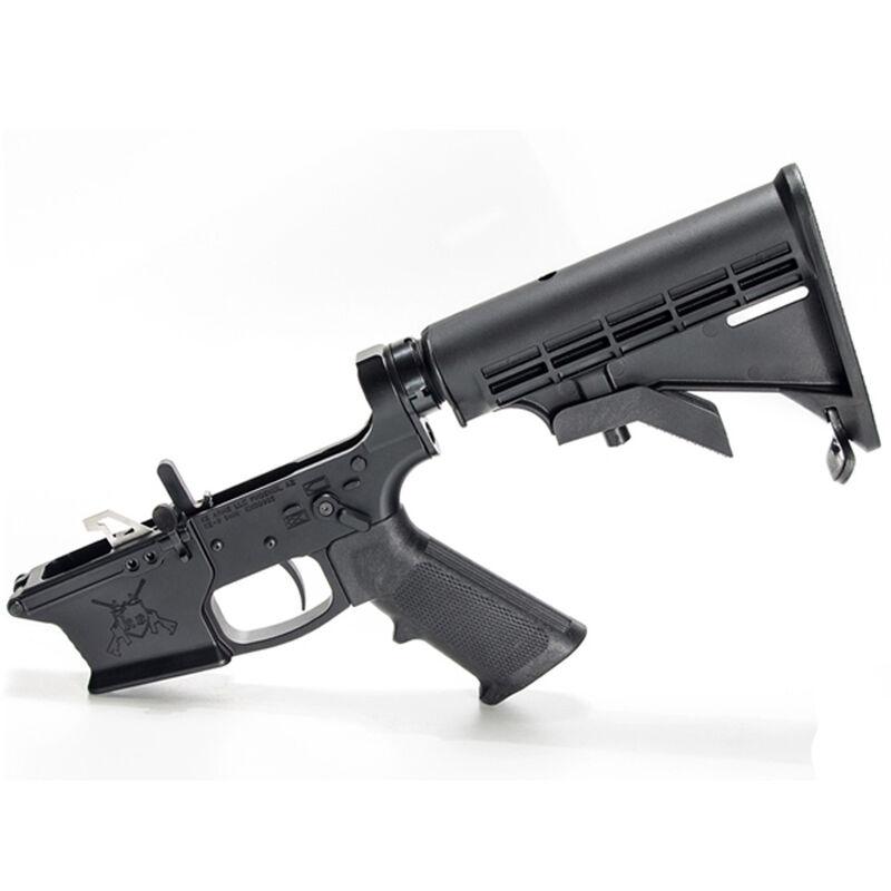 KE Arms KE-9 Billet Complete AR-15 Lower Receiver Assembly GLOCK Magazine Compatible Billet Aluminum Ambi Selector Match Trigger A2 Pistol Grip Carbine Stock Matte Black