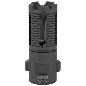 CMMG DEFCAN 9 AR Flash Hider Muzzle Device Threaded 1/2x28 9mm Caliber Compatible Matte Black Finish