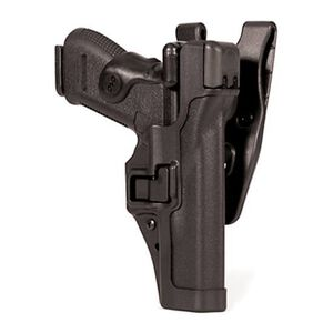 BLACKHAWK! SERPA Level 3 Duty Holster For Glock 17/19/22/23 Right Hand Polymer Black 44H100BK-R