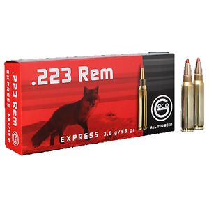 GECO .223 Remington Ammunition 20 Rounds 56 Grain GECO Express Polymer Tip Projectile