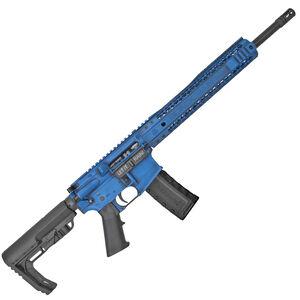 "Black Rain Ordnance SPEC15 5.56 NATO AR-15 Semi Auto Rifle 16"" Barrel 30 Rounds Free Float Hybrid Hand Guard Collapsible Stock Blue"