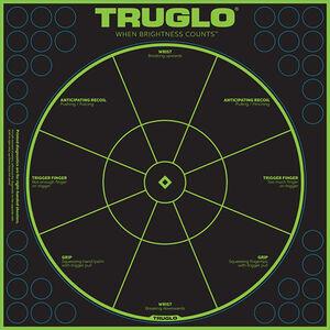 "TRUGLO Splatter Handgun Diagnostic Target 12""x12"" Green/Black 6 Pack"