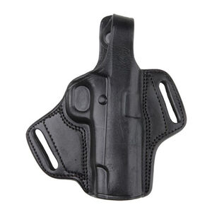 Bulldog Cases Deluxe Molded Leather Revolver Holster Small with Thumb Break Right Hand Black
