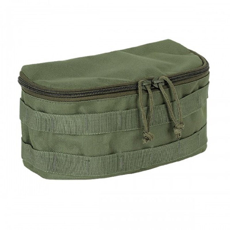 """Voodoo Tactical MOLLE Compatible Rounded Utility Pouch Size 10""""Wide x 5""""Tall x 5"""" Deep Olive Drab"""