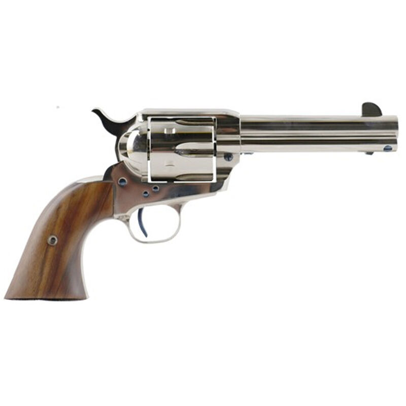 """Standard Manufacturing .45 Long Colt Single Action Revolver 4.75"""" Barrel 6 Rounds Fixed Sights Two Piece Grip Nickel Finish"""