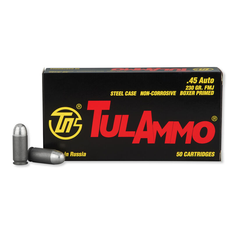 TulAmmo .45 ACP Ammunition 50 Rounds FMJ 230 Grains TA452300