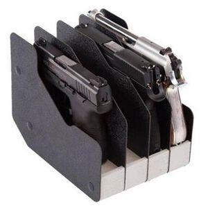 BenchMaster WeaponRAC Four Pistol RAC Pistol Case Plastic Black BMWRM14