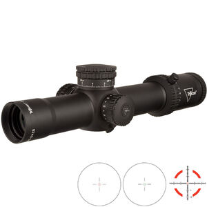 Trijicon Credo 1-8x28 Riflescope With Red and Green MRAD Segmented Circle Reticle MRAD Adjustment FFP 34mm Tube Black