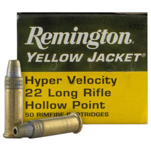 Remington 22 Yellow Jacket .22 LR Ammunition 50 Rounds 33 Grain Plated TC HP Bullet 1500fps