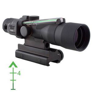Trijicon ACOG TA33G-8 3x30 Riflescope Illuminated Green Chevron .223 Ballistic Reticle 1/4 MOA Aluminum Matte Black with TA60 Mount TA33G-8