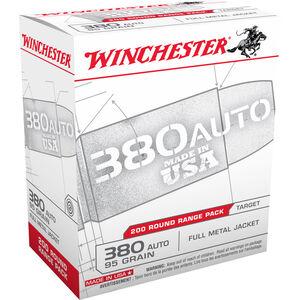 Winchester USA .380 ACP Ammunition 95 Grain FMJ 955 fps
